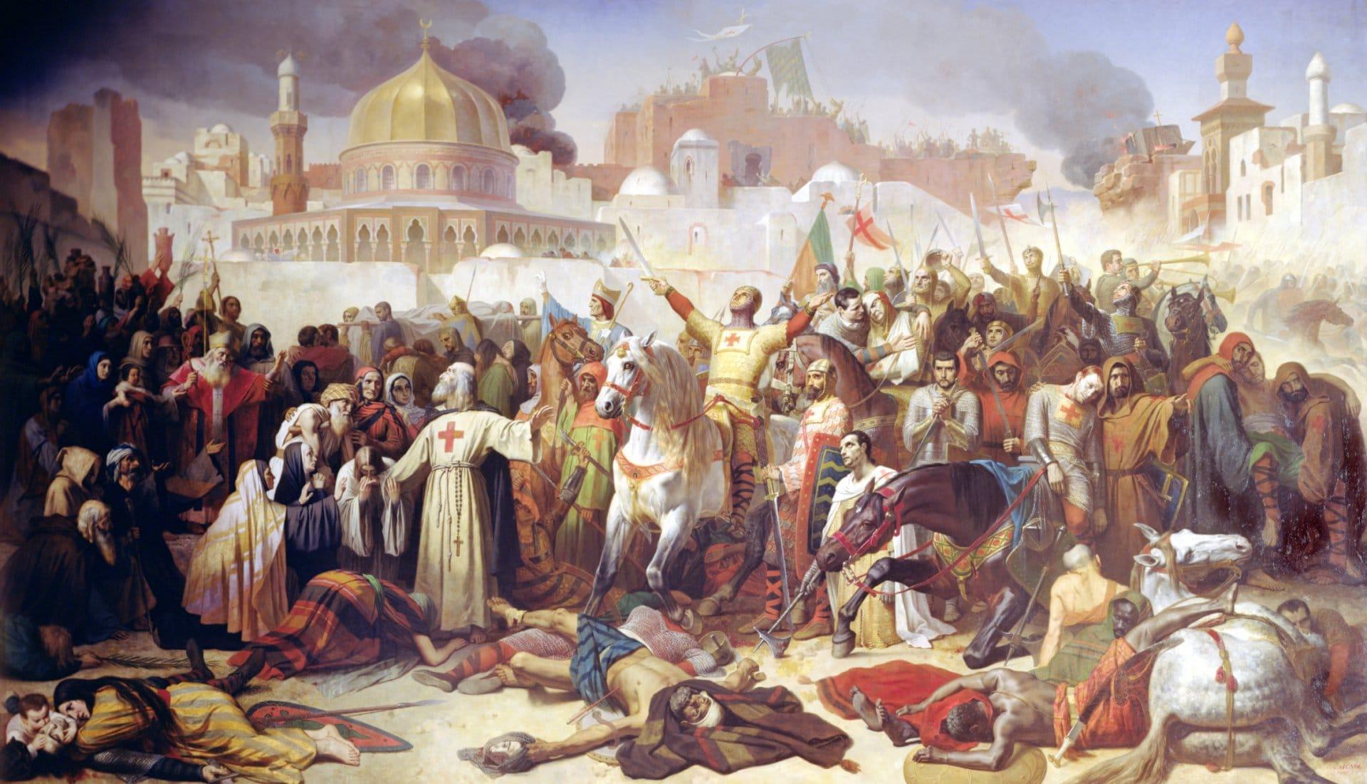 Bild: Einnahme Jerusalems durch die Kreuzfahrer am 15. Juli 1099   Giraudon / The Bridgeman Art LibraryÉmile Signol [Public domain] (https://commons.wikimedia.org/wiki/File:Counquest_of_Jeusalem_(1099).jpg)