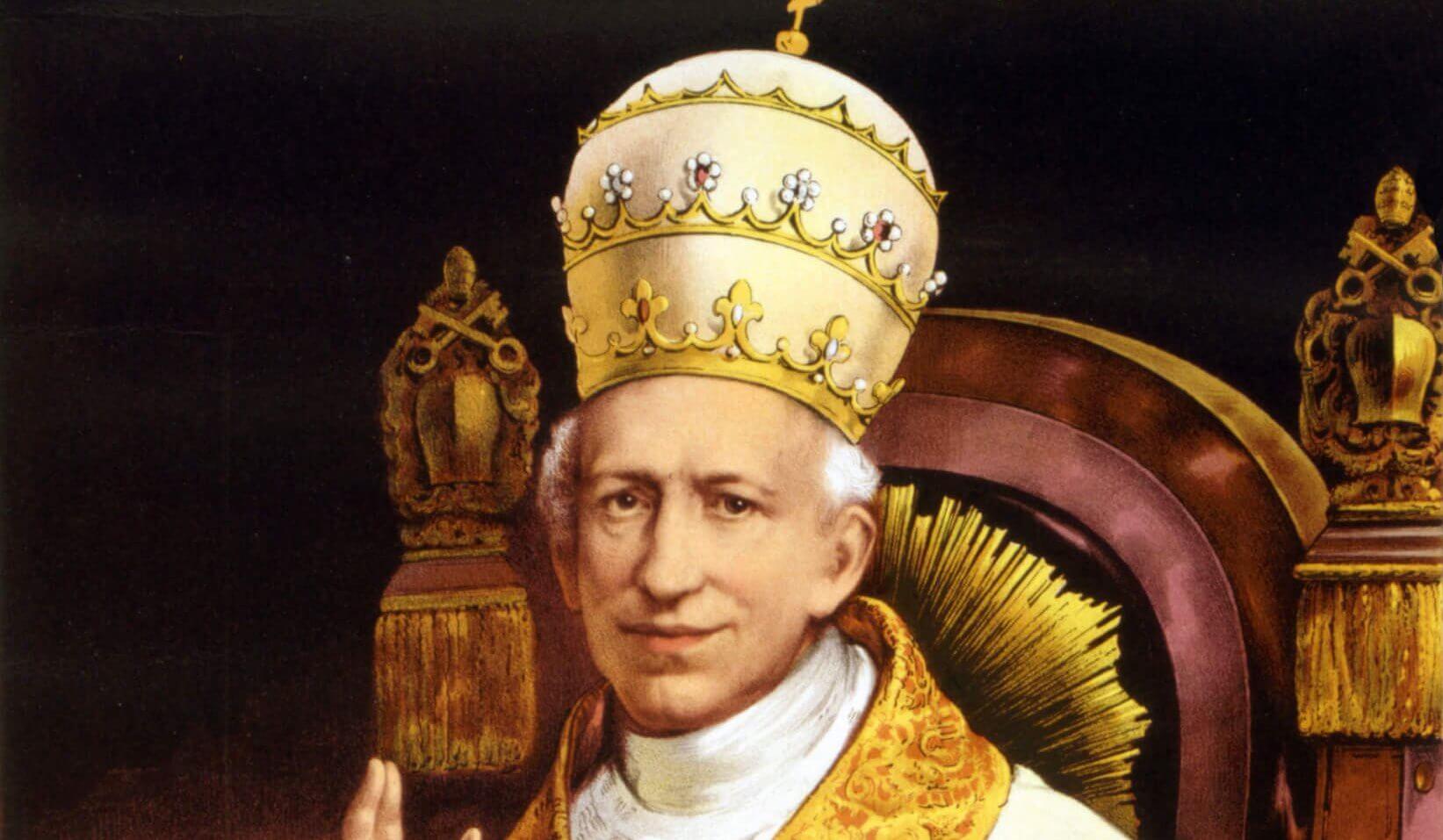 Bild: Leo XIII. / Authentic portrait from the Vatican album of the Ecumenical Council. [Public domain], via Wikimedia Commons
