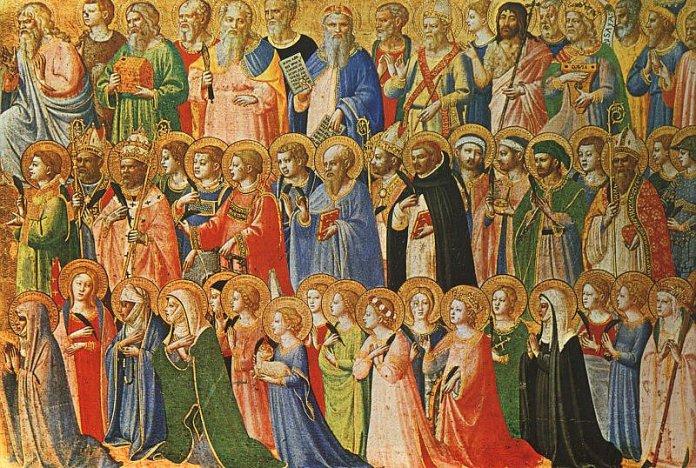 Die Vorläufer Christi mit Heiligen und Märtyrern, Fra Angelico (1423–24) –Fra Angelico [Public domain]