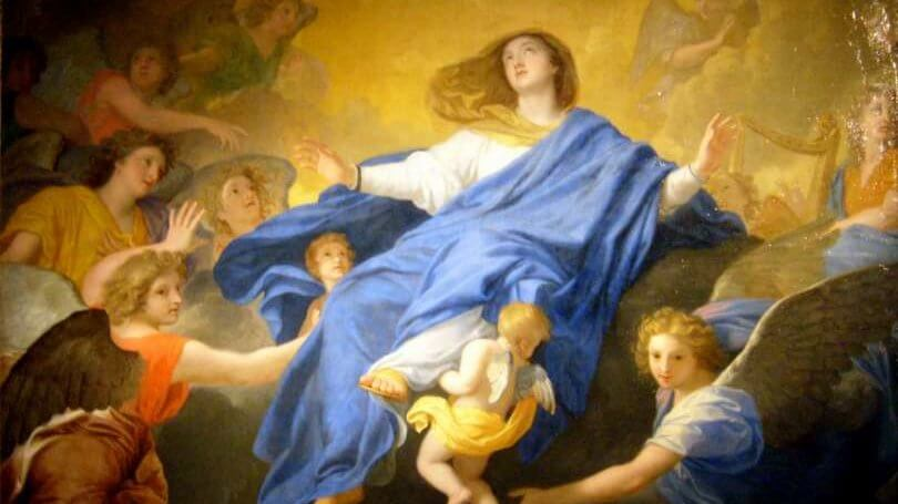 Die Himmelfahrt, dargestellt von Charles Le Brun im Jahr 1835. Foto: Wikimedia (Gemeinfrei)