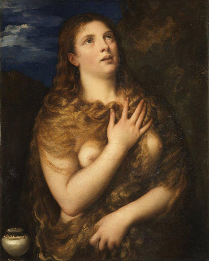 Tizian: Büßende Maria Magdalena, um 1533, Ölgemälde Gemeinfrei, https://commons.wikimedia.org/w/index.php?curid=159483