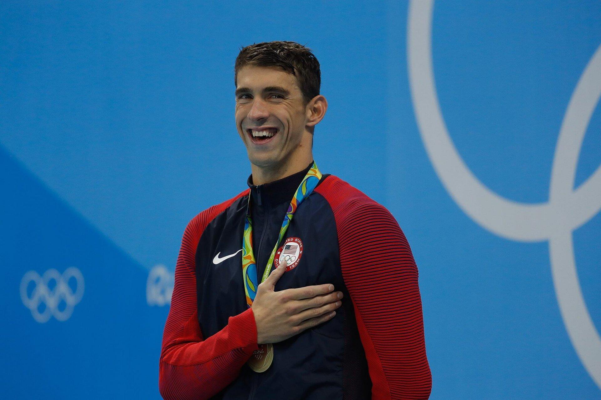 Michael Phelps Bild: Fernando Frazão/Agência Brasil [CC BY 3.0 br (https://creativecommons.org/licenses/by/3.0/br/deed.en)], via Wikimedia Commons