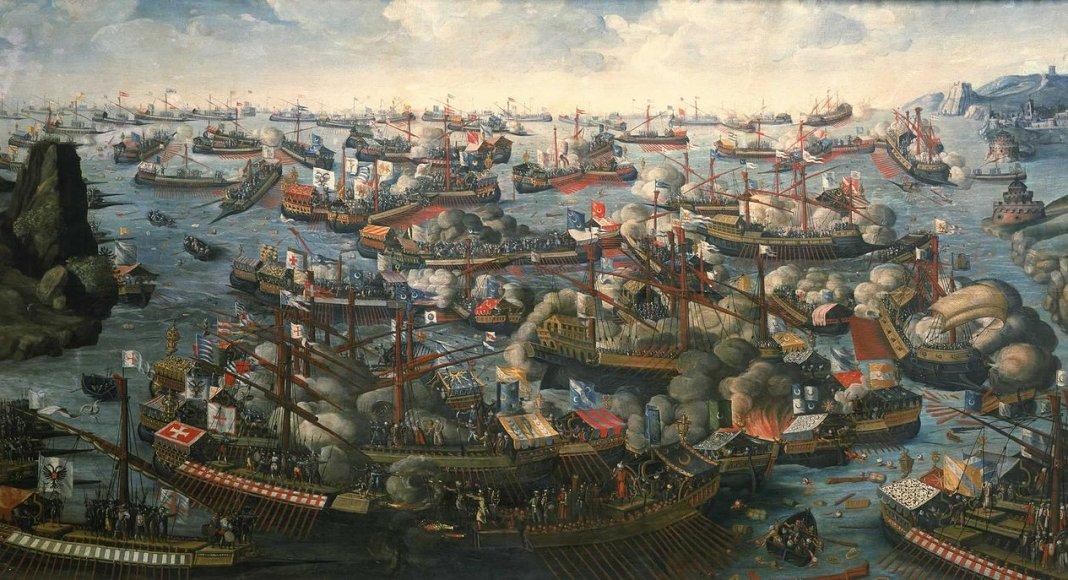 Die Schlacht von Lepanto - Bild: National Maritime Museum [Public domain]