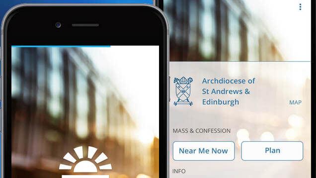 Sindr ist der Spitzname einer App der katholischen Kirche, um Kirchen zu finden Foto: thecatholicapp.com