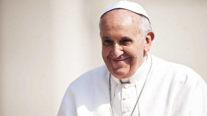 Kommt positiv rüber: Franziskus bei einer Generalaudienz Catholic Church England and Wales, flickr