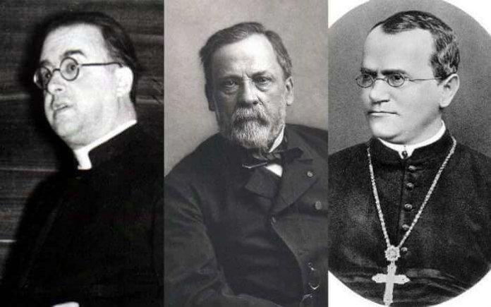 Erkennen Sie die berühmten Wissenschaftler? Foto: Public Domain, Wikipedia / Public Domain, Wikipedia / Hugo Iltis, Wikimedia Commons (CC BY 4.0)