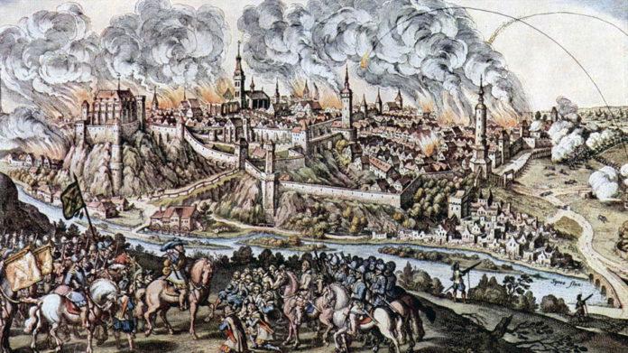 Die Belagerung von Bautzen durch den Kurfürsten Johann Georg I. von Sachsen, dargestellt durch den Maler Matthäus Merian Foto: Matthäus Merian | gemeinfrei