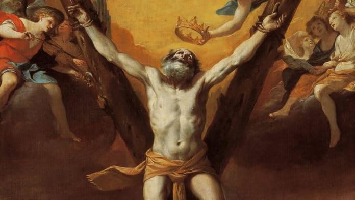 Die Kreuzigung des Heiligen Andreas   Mattia Preti, Public domain, via Wikimedia Commons