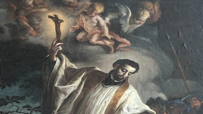 Bild: Franz Xaver missioniert Heiden