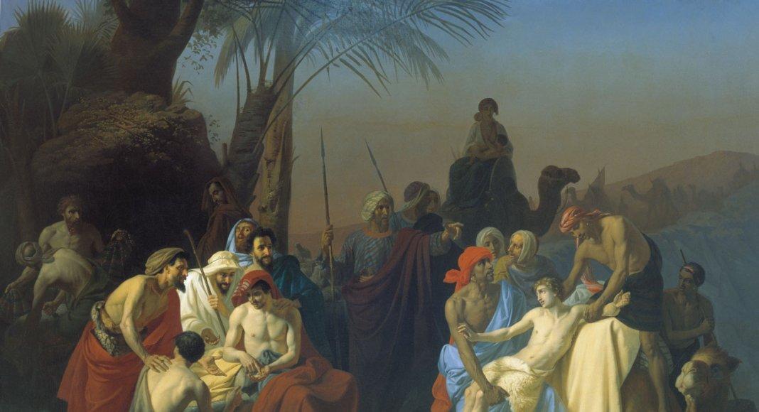 Jakobs Söhne verkaufen ihren Bruder Josef (1855) – Konstantin Flavitsky [Public domain]