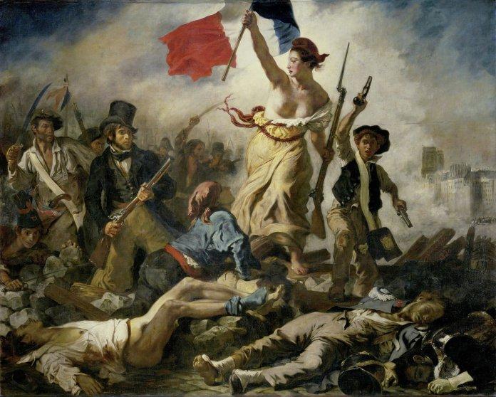"""Das Gemälde """"Die Freiheit führt das Volk"""" von Eugène Delacroix (public domain)"""