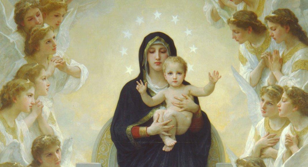 Die Jungfrau Maria mit Engeln, Gemälde von William Adolphe Bouguereau William-Adolphe Bouguereau [Public domain]
