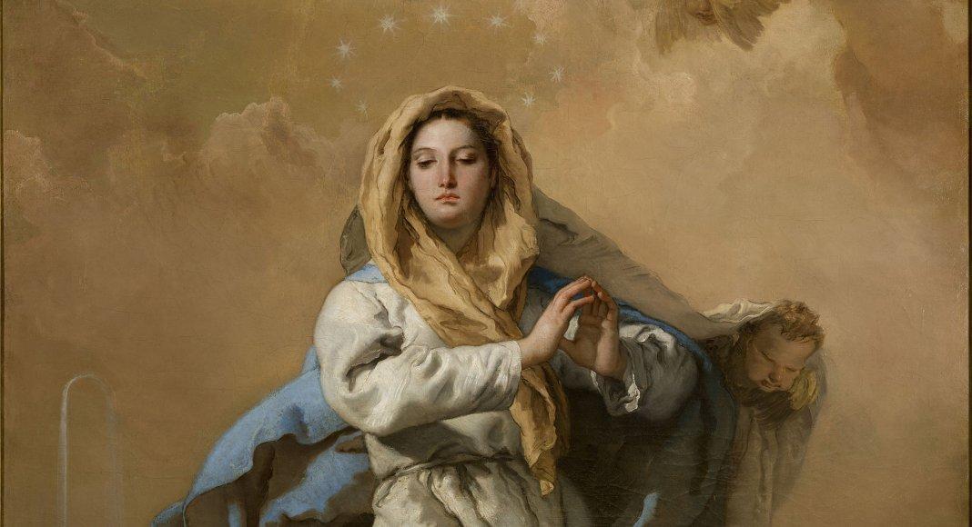 Die Unbefleckte Empfängnis von Giovanni Battista Tiepolo – Giovanni Battista Tiepolo [Public domain]