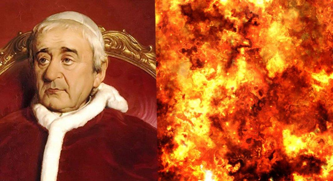 Gregor XVI. und das Höllenfeuer | Bild (Gregor XVI.): Paul Delaroche [Public domain]
