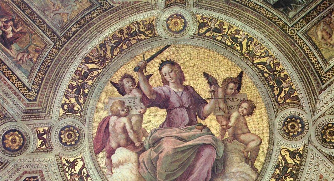 Bild: Gerechtigkeit. Fresko von Raffael im Vatikan