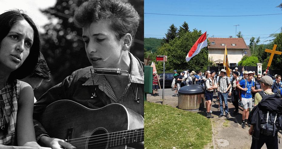 Joan Baez und Bob Dylan 1963 vs. Chartres-Wallfahrt 2018