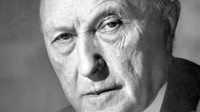 Konrad Adenauer (1952)   Bild: Bundesarchiv, B 145 Bild-F078072-0004 / Katherine Young / CC BY-SA 3.0 DE [CC BY-SA 3.0 DE (https://creativecommons.org/licenses/by-sa/3.0/de/deed.en)]
