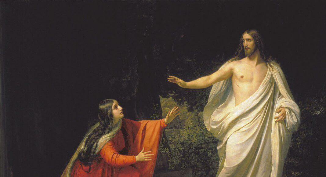 Erscheinung Jesu Christi bei Maria Magdalena von Alexander Andreyevich Ivanov, 1835 / Public Domain