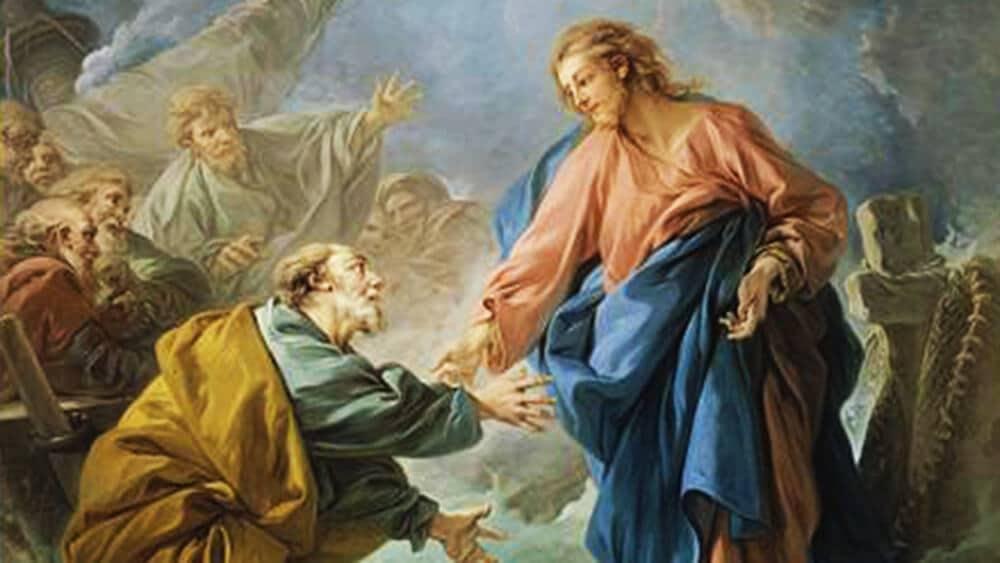 Bild: Christus rettet den untergehenden Petrus François Boucher / Public domain