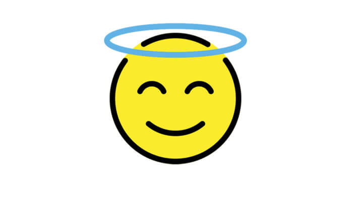 smiling face with halo   Autor: Emily Jäger   Lizenz: CC BY-SA 4.0 (https://creativecommons.org/licenses/by-sa/4.0/)   Quelle: https://openmoji.org/library/#search=halo&emoji=1F607