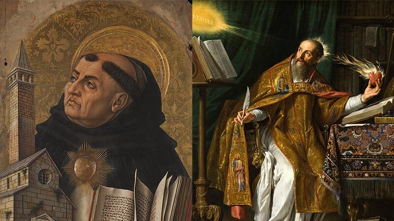 Thomas von Aquin und Augustinus (public domain)