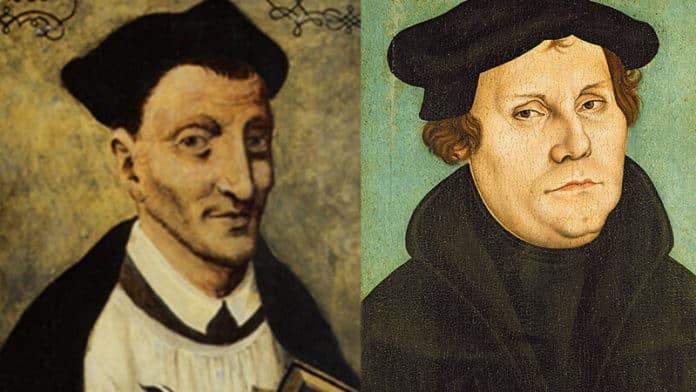 Thomas von Kempen, der berühmteste Vertreter der Devotio Moderna und Martin Luther (public domain)