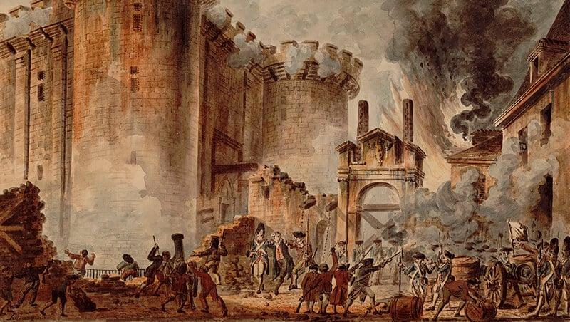 La Prise de la Bastille (Sturm auf die Bastille) von Jean-Pierre Houël (1789) | Public domain, via Wikimedia Commons