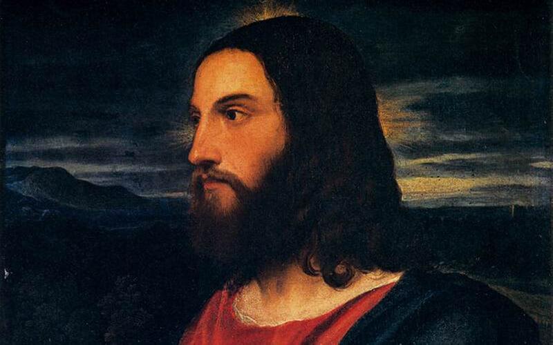 Christus, der Erlöser vonTitian(um 1534),Palazzo Pitti,Florenz. |Public domain, via Wikimedia Commons