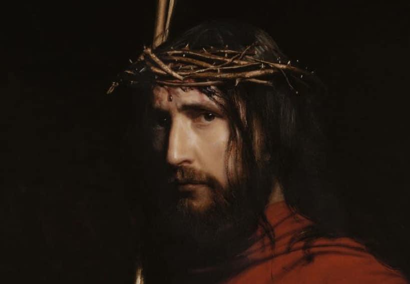 Christus mit der Dornenkrone, Gemälde von Carl Bloch, vor 1890 | Public domain, via Wikimedia Commons