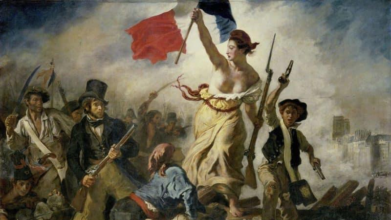 Eugène Delacroix: Die Freiheit führt das Volk, 1830 – Pubylic domain, via Wikimedia Commons