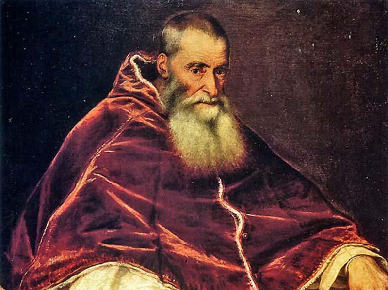 Papst Paul III., Gemälde von Tizian, 1543, Neapel, Museo di Capodimonte | Public domain, via Wikimedia Commons